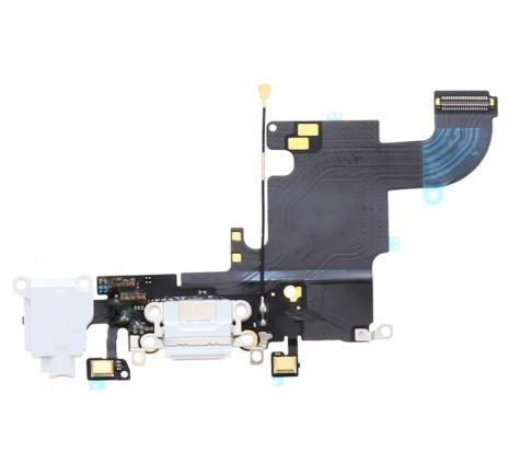iPhone 6S - Laddkontakt och hörlursuttag (VIT)