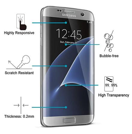 Samsung Galaxy S7 Mjukt Skärmskydd PET 9H 0,2mm