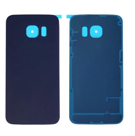 Samsung Galaxy S6 Edge - ORIGINAL-Batterilucka/Baksida SVART/BLÅ