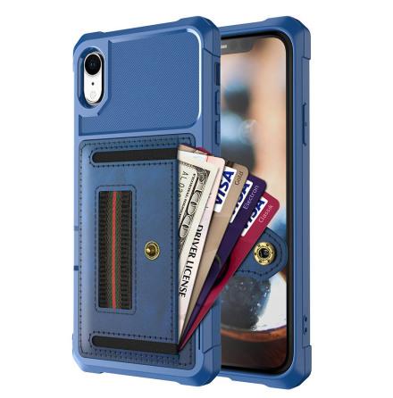 iPhone XR - Praktiskt Skyddsskal med Kortfack