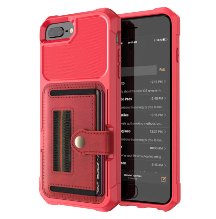 iPhone 8 Plus - Skyddande Skal med Kortfack