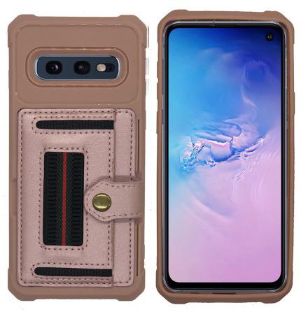 Samsung Galaxy S10E - Skyddande Skal med Kortfack