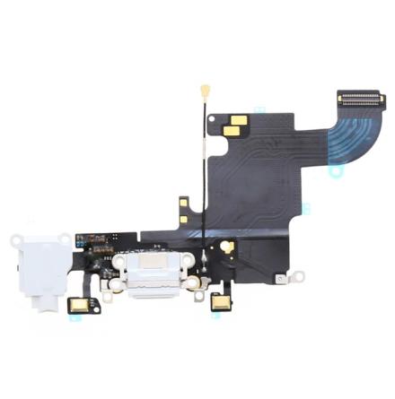 iPhone 6S - Laddkontakt och hörlursuttag (grå) OEM