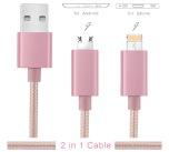 USB-ladd-/dataöverföringkabel (Android/Apple) DUBBELKONTAKT