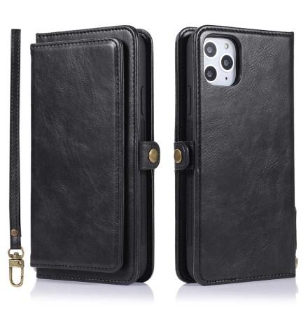 iPhone 11 Pro Max - Praktiskt Dubbelt Plånboksfodral