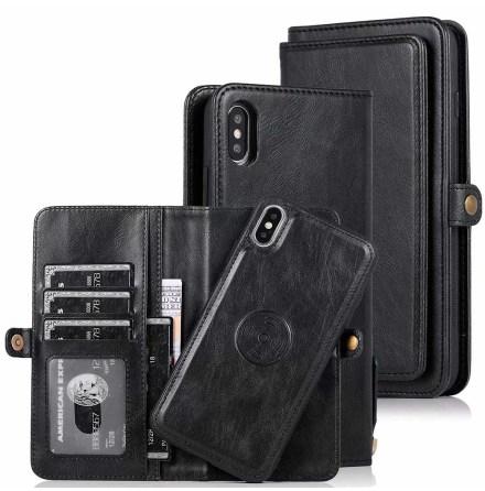 iPhone XS Max - Professionellt Dubbelt Plånboksfodral