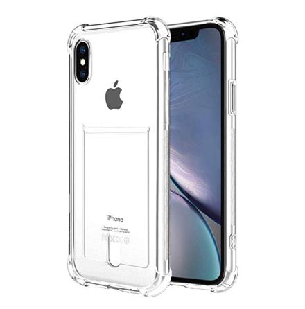 iPhone X/XS - Praktiskt Skyddande Skal med Kortfack