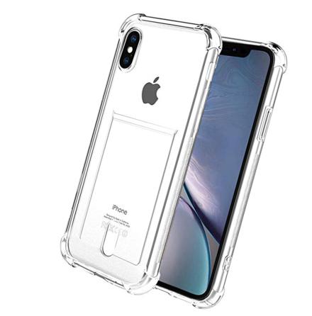 iPhone XS Max - Stötdämpande Silikonskal med Kortfack
