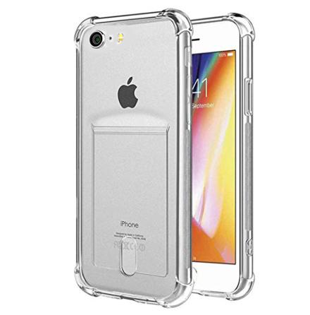 Genomtänkt Skyddsskal Korthållare - iPhone 8