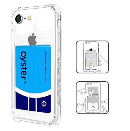 iPhone SE 2020 - Praktiskt Silikonskal med Kortfack