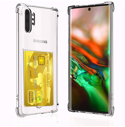 Samsung Galaxy Note 10 Plus - Kraftfullt Silikonskal Kortfack