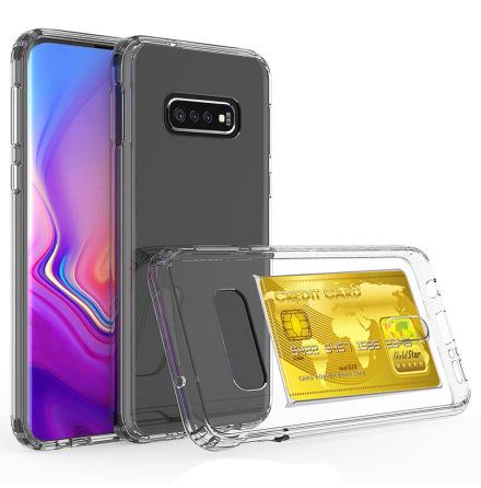 Samsung Galaxy S10 - Genomtänkt Skyddsskal med Kortfack