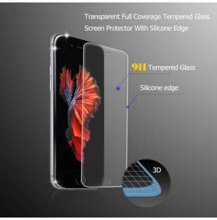 iPhone 6/6S Plus Pansarglas-HELTÄCKANDE 2,5D (NYHET) Transparent
