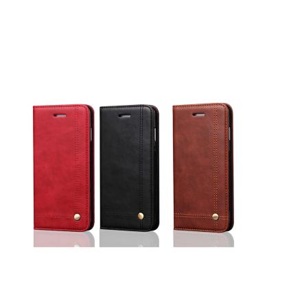 LEMAN Stilrent Plånboksfodral för Samsung Galaxy S8+