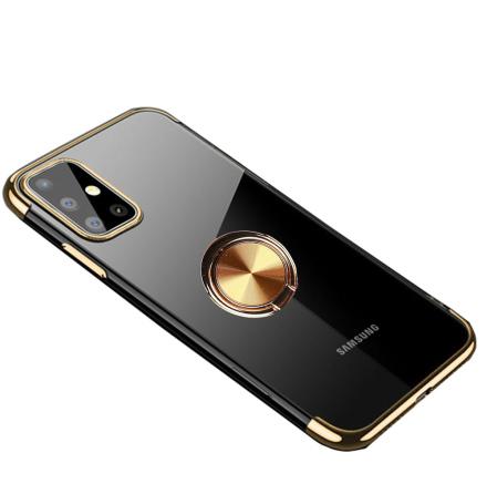 Samsung Galaxy A41 - Praktiskt Skyddande Skal med Ringhållare