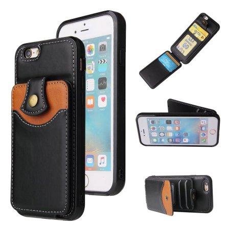 iPhone 8 - Genomtänkt Skal med Korthållare