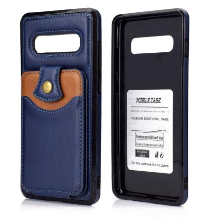 Samsung Galaxy S10 Plus - Praktiskt Stilrent Skal med Korthållare