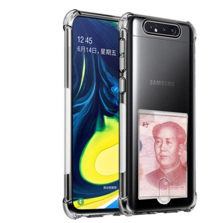 Samsung Galaxy A80 - Kraftfullt Skyddsskal med Korthållare
