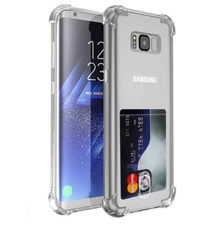 Samsung Galaxy S8 - Skyddande Floveme Skal med Korthållare