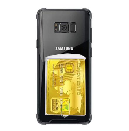 Samsung Galaxy S8 Plus - Kraftfullt Skyddsskal med Korthållare