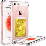 iPhone 5/5S/5SE - Effektfullt Skyddsskal med Korthållare