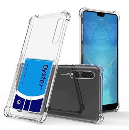Huawei P20 Pro - Robust Skyddsskal med Korthållare FLOVEME