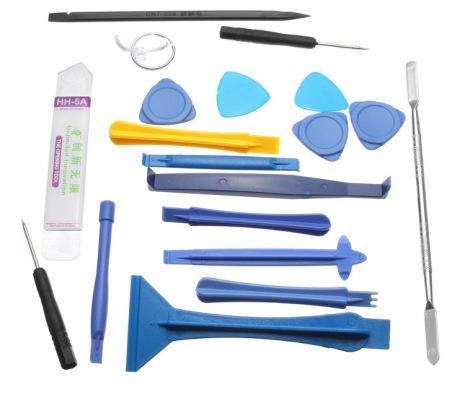 Praktiskt Verktygskit för Mobiler och surfplattor (19-delar)