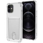 iPhone 12 Mini - Skyddande Praktiskt Skal med Korthållare