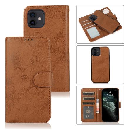 iPhone 12 - Praktiskt Stilrent Dubbelfunktion Plånboksfodral