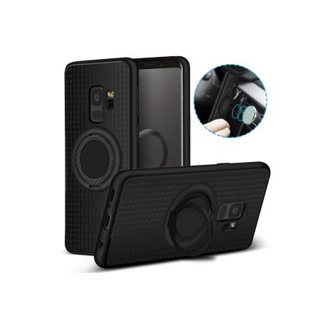 Samsung Galaxy S9 - Carbon-Skal med Ringhållare FLOVEME