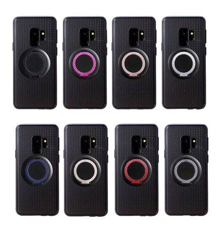 Samsung Galaxy S9+ - Carbon-Skal med Ringhållare FLOVEME