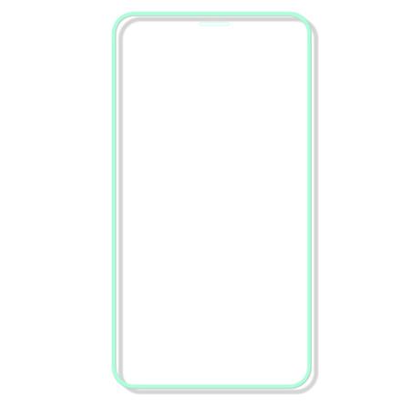 iPhone XS Max Skärmskydd Självlysande Ram 9H 0,3mm
