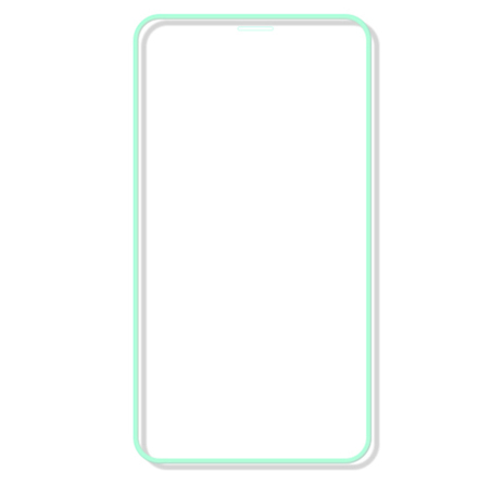 iPhone X/XS Skärmskydd Självlysande Ram 9H 0,3mm