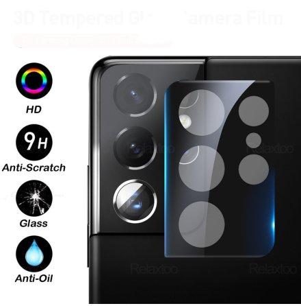 Galaxy S21 Ultra Högkvalitativt 2.5D HD-Clear Kameralinsskydd