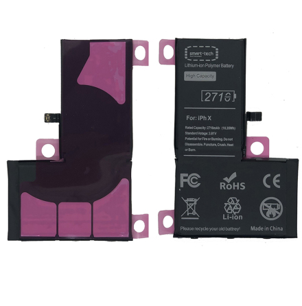iPhone X - Smart Tech 2710mAh Högkapacitet Batteri