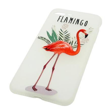Flamingo - Retroskal av silikon för iPhone SE 2020