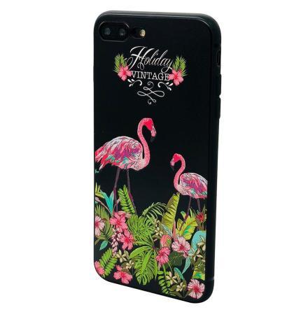 Black Flamingo - Retroskal av silikon för iPhone SE 2020