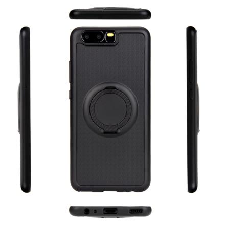 Huawei P10 - Carbon-Skal med Ringhållare FLOVEME
