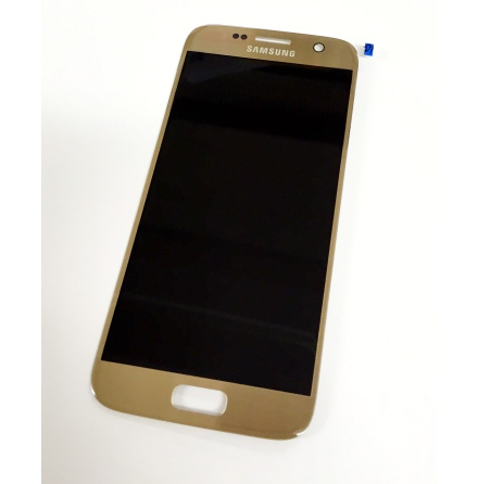 Samsung Galaxy S7 - LCD Display Skärm ORIGINAL (GULD)