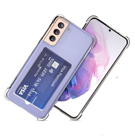 Samsung Galaxy S21 Plus - Stötdämpande Skal med Korthållare