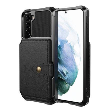 Samsung Galaxy S21 - Praktiskt Skyddsskal med Korthållare