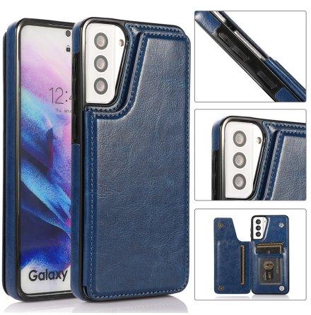 Samsung Galaxy S21 - Effektfullt Skal med Korthållare
