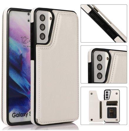 Samsung Galaxy S21 Plus - Skyddande Smidigt Skal med Korthållare