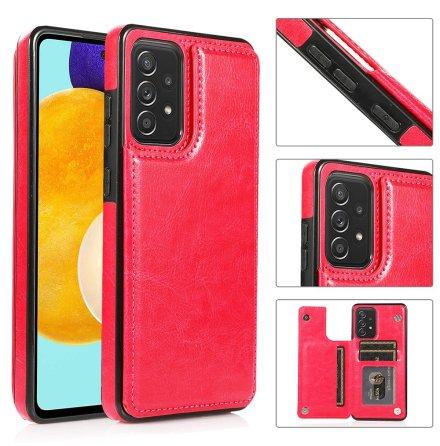 Samsung Galaxy A72 - Genomtänkt Nkobee Skal med Korthållare