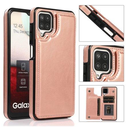 Samsung Galaxy A12 - Elegant Praktiskt Skal med Korthållare