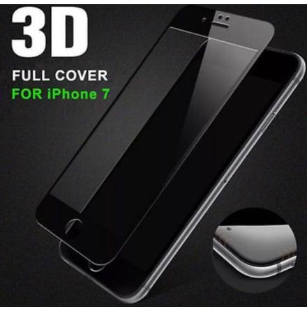iPhone 7 - Heltäckande Pansarglas-Skärmskydd med Ram 3D/HD-Clear