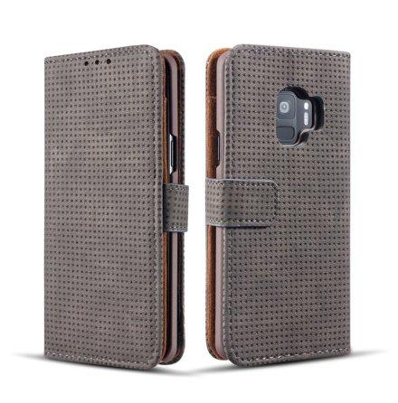 Plånboksfodral i Retrodesign från LEMAN till Samsung Galaxy S9+