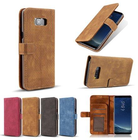 Plånboksfodral i Retrodesign från LEMAN till Samsung Galaxy S8+