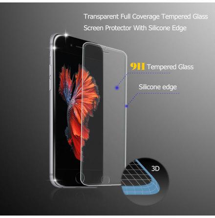 iPhone 7 - HELTÄCKANDE Skärmskydd i 3D och HD-Clear