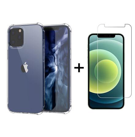 iPhone 12 Pro - Robust Skyddsskal i Silikon + Skärmskydd (Floveme)
